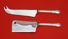 MODERN VICTORIAN BY LUNT STERLING SILVER CHEESE SERVER SERVING SET 2P HHWS CUSTM