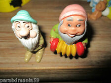 Blanche neige-Lot anciennes  figurines nains-educo&home vidéo