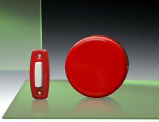 Imperial Wind-Up Mechanical Doorbell, Red