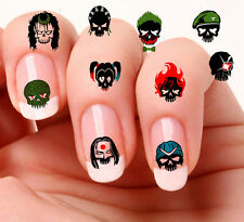 40 Nail Art Decals Transfers, Stickers, Decals  #856,857 Suicide Squad Mixed set