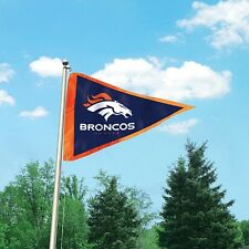 NFL Denver Broncos Giant Pennant Flag.Embroidered Applique 3' x 5' Super Bowl 50