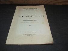 Raphaël-Georges LEVY: la loi des huit heures