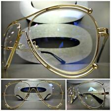 CLASSIC VINTAGE 70s RETRO Style Clear Lens CLUB PIMP RAVE DJ SUN GLASSES SHADES