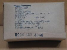 VINTAGE 1960 WESTERN ELECTRIC SWITCH ASSY. NOS ORIGINAL PACKAGING