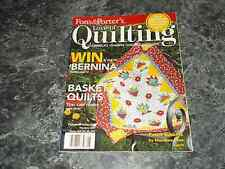 Love of Quilting May/June 2007 Fons & Porters Basket Quilts