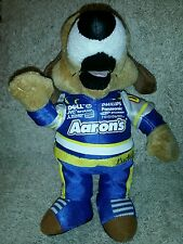 "Aaron's LUCKY DOG NASCAR 10 "" WALTRIP Plush Mascot with tag"