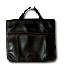 Rosetti Dark Brown Pleather Briefcase Large Tablet Small Laptop Organizer-Roomy*