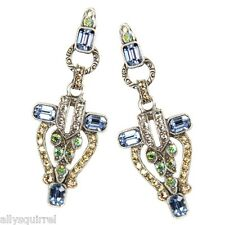 NEW SWEET ROMANCE STUNNING ART DECO CRYSTAL TORCHIERE PIERCED EARRINGS
