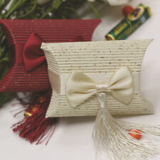 50x Corrugated Paper Pillow Candy Box Wedding Favors Baby Shower Party Gift Bags