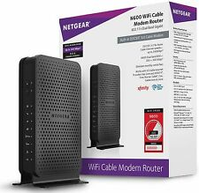 NETGEAR N600 WiFi DOCSIS 3.0 Cable Modem Router, Comcast / Cox / Time Warner