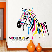 Full Color Horse Zebra Animal Wall Sticker Vinyl Decals Mural Art Home Decor DIY