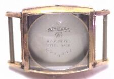NOS Antique Vintage KEYSTONE Yellow Gold Plated Mens Watch Case No Crystal #UM4