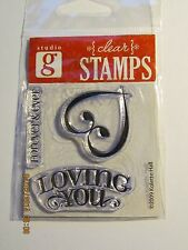 Studio G****LOVING YOU*** FOREVER & EVER*****Clear Stamps********WORLDWIDE