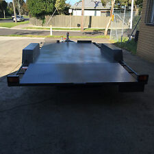 16X6'6'' Banana back car carrier tandem trailer *new Sunraysia wheels*
