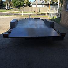 16X6'6'' Banana back car carrier tandem trailer *new Sunraysia wheels*