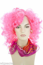 Colorful Gypsy Glamour, Retro Style Long Curly Fun Color Costume Wigs Skin Top