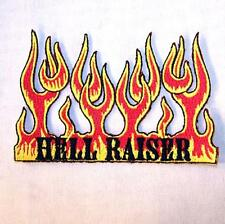 HELL RAISER FLAMES EMBROIDERED PATCH P355 iron on sew biker JACKET patches NEW