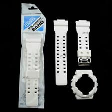 ORIGINAL CASIO G-SHOCK REPLACEMENT BAND AND BEZEL, GD100WW-7 GD-100WW-7, WHITE