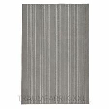 IKEA Designer Teppich grau 120x180 cm Kurzflor Vintage Wohnzimmer Kinderteppich