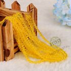 1500 PCS Yellow Crystal Faceted Loose Beads Rondelle DIY Jewelry Making Lot 4mm