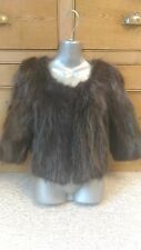 J18 new design 100% real black brown polecat marten fitch family fur short coat