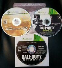 XBOX 360 ✔ CALL OF DUTY MW2 & MW3 & GHOSTS BUNDLE ✔ TESTED & SHIPS FAST  fps war