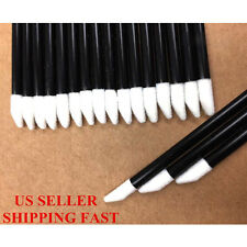 100 Pcs Disposable Makeup Cosmetic Lip Brush Set Lipstick Gloss Wands Applicator