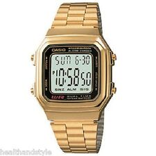 Casio A178WGA-1A Mens Gold Tone Stainless Steel Digital Watch Retail Box Include