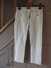 Designer CLAIRE DK Elasticated Mid-rise White Capri Jeans Teens 12 plus UK 10