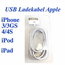 2x iPhone 3 3GS 4 4S iPad iPod USB Ladekabel Lader Ladegerät Ladeadapter Handy