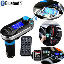 Dual USB Car Charger Bluetooth Handsfree FM Transmitter AUX TF Audio MP3 Player