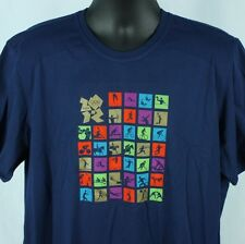 Adidas Mens XL TShirt 2012 London Olympics Blue Graphic New Official Extra Large