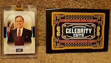 George Bush 2008 Donruss Celebrity Cuts Authentic Material Card #18 of 50-RARE