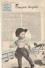 PAGE ORIGINALE 09/56 poupée Modes et Travaux ( +  patron)