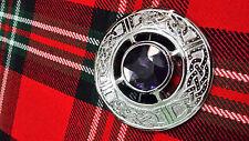TC Spilla Patta A Quadri Design Celtico Viola Grigio sabbia/Celtic Spille Spilli