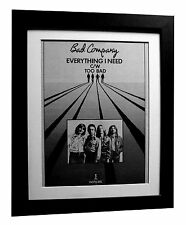 BAD COMPANY+Everything Need+POSTER+AD+FRAMED+RARE ORIGINAL 1977+FAST GLOBAL SHIP