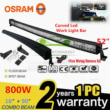 "OSRAM CURVED 800W 52""LED Combo Work Light Bar Offroad Driving Lamp FLOOD SPOT 52"