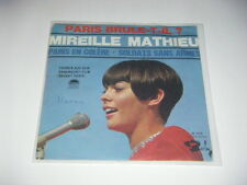 """7""""-Single MIREILLE MATHIEU Paris en colere/Soldats sans armes (Paris brule-t-il)"""
