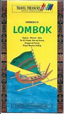 Map of Lombok, Indonesia, by Travel Treasure Maps