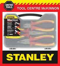 STANLEY MAX STEEL 3pce 1000V VDE INSULTED  PLIER SET IN CASE