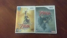 The Legend of Zelda Skyward Sword & Twilight Princess Nintendo Wii Lot