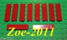 Lego Dark Red Tile 1x4 10 pieces NEW!!!