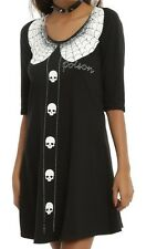 Gothic Spiderweb Kreepsville 666 Thursday's Poison Tunic Dress NWT MD HALLOWEEN