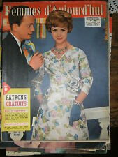 Femmes d'aujourd'hui N° 705 1958 Mode vintage 3 patrons Couture Broderie Robe