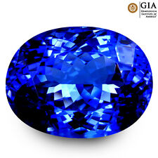 20.21 ct GIA CERTIFIED AAAA+ SPECTACULAR OVAL (18 x 14 mm) D'BLOCK TANZANITE