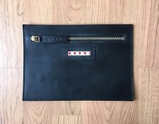 MARNI Black Leather Purse Bag