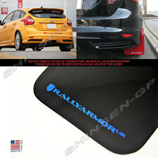 RALLY ARMOR UR MUD FLAPS FOR 2012-2017 FORD FOCUS ST SE HATCHBACK BLACK / BLUE