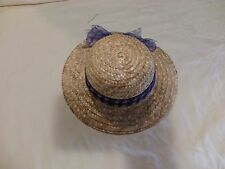 "American Girl 18"" Doll Straw Hat For Periwinkle Dress Retired"