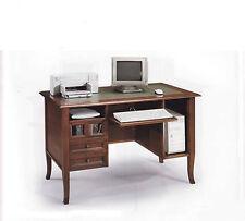 SCRIVANIA SCRITTOIO 1203 ARTE POVERA PORTA COMPUTER cm 130x74x83H