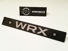 [SR] Black Front License Plate Delete For [2015 WRX] Fill Laser Engraved Logo